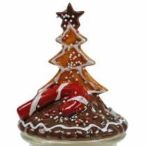 Koektrommel met keramische deksel peperkoek rood, bruin H21,5 cm koektrommel