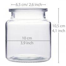 Glazen vat om te vullen, bloemenvaas, tafeldecoratie, glazen lantaarn 2st