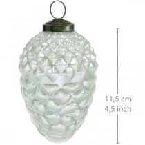 Boomdecoratie kegels herfstvruchten echt glas antiek look Ø7cm H11.5cm 6st