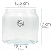 Glazen lantaarn, decoratieve vaas, kaarsdecoratie Ø18,5cm H21cm