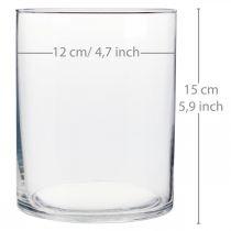 Glazen vaas Ø12cm H15cm