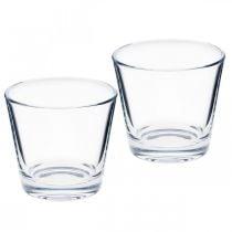 Glazen vaas helder Ø8.5cm H8cm 6st