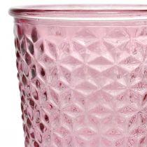 Kaarsenbeker, beker glas, lantaarn, glasdecoratie Ø10cm H18,5cm