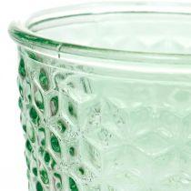 Glazen lantaarn, beker glas met voet, glazen schaal Ø10cm H18.5cm