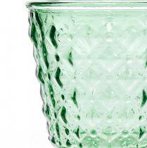 Glazen lantaarn Ø11,5cmH15,5cm turkoois