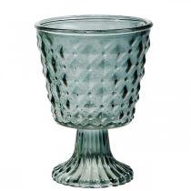 Kopje glas met voet, glazen lantaarn Ø11cm H15.5cm