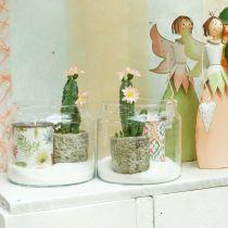 Glazen lantaarn, decoratieve vaas, kaarsdecoratie Ø18.5cm H21cm