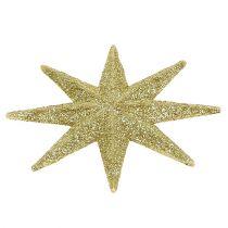 Glitterster goud Ø10cm 12st