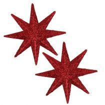 Glitterster rood Ø10cm 12st