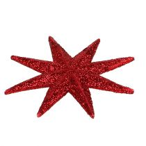 Glitterster rood Ø5cm 20st