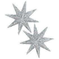Glitterster zilver Ø10cm 12st