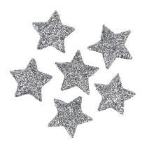 Glitter ster zilver Ø2.5cm 48p