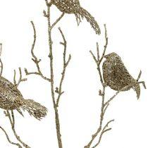 Glittertak met vogels 75cm goud