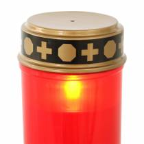 LED graflicht rood, warm wit timer werkt op batterijen Ø6,8 H12,2cm