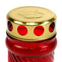 Graflamp glas rood Ø6cm H10.5cm 1 stuk