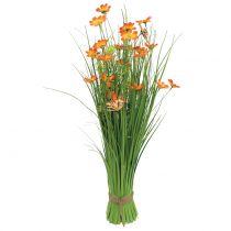 Bosje met bloemen en vlinders Oranje 70cm
