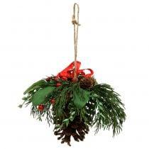 Kersthanger met kegels en bessen 16cm