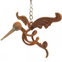 Kolibri tuindecoratie RVS vogel om op te hangen 24×19cm