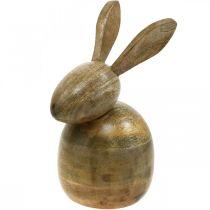 Zittend houten konijn, decoratief konijn, houten decoratie, Pasen 18cm