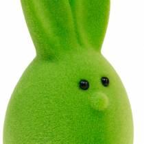 Paasei mix met oren, gevlokte konijnen eieren, kleurrijke paasdecoratie 6st