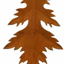 Herfstbladeren patina om op te hangen 13cm 4st