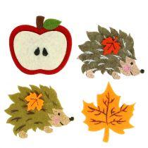 Herfstdecoratie voor het verspreiden en lijmen van vilt 12st
