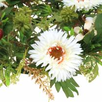 Herfstkrans chrysanthemum wit Ø30cm