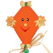 herfstdecoratie op stok Drachen oranje L31cm 4st