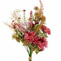 Boeket van herfst fuchsia 40cm