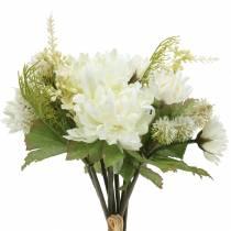 Chrysanthemum boeket mix wit 35cm