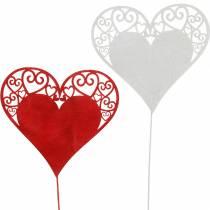 Hart op de stok, decoratieve plug hart, huwelijksdecoratie, Valentijnsdag, hartdecoratie 16st