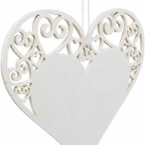 Hartdecoratie om op te hangen, huwelijksdecoratie, hartvormige hanger van hout, hartdecoratie, Valentijnsdag 12st