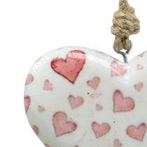 Decoratief hangend hart keramiek 11cm x 10cm