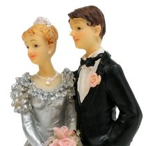 Bruidspaar voor zilveren bruiloft 14cm