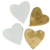 Houten hart in een zak 2cm - 4cm 24st