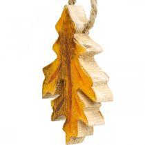 Decoratieve bladeren hout om op te hangen Kleurrijke herfstdecoraties 6.5 × 4cm 12st