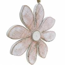 Pastelkleurige decoratieve bloesems, zomerbloemen, houtbloesems, florale decoraties om op te hangen Ø12,5cm 3st