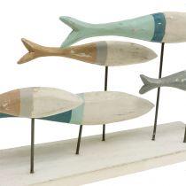 Houten vis op standaard 34cm x 16cm x 7,5cm