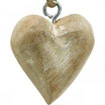 Houten hart kerstboomversiering 4,5 cm 36st