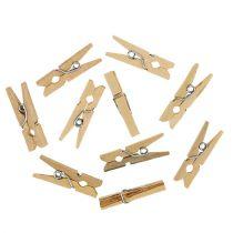 Houten clips naturel 2,5cm 72p