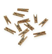 Decoratieve houten clips 3cm naturel 72st