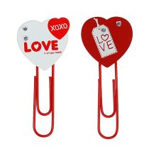"Houten clips hart ""Love"" decoratief hart Valentijnscadeau 2st"