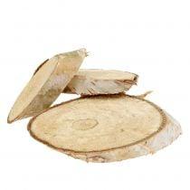 Houten plakjes berk ovaal 5cm - 20cm 500g