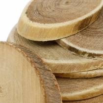 Decoratieve houten schijven ovale natuurlijke schijf Ø4-7cm houten decoratie 400g