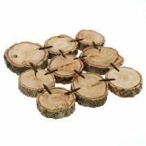 Decoratieve onderzetter, houten schijven, naturel 22 × 22 cm
