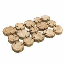Decoratief dienblad gemaakt van houten schijven, natuur 37 × 22,5 cm