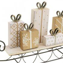 Slee met geschenken, advent, decoraties voor Kerstmis L37.5cm H23cm