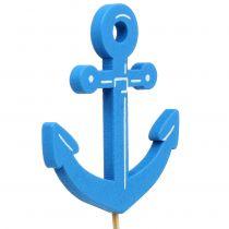 Houten plug maritiem blauw 9st