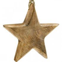 Decoratieve ster, houten hangers, kerstversiering 14cm × 14cm