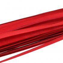 Houten strips gevlochten lint rood 95cm - 100cm 50p